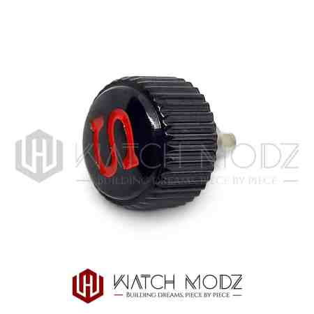 """Black Coin Edge """"Red S"""" Crown"""