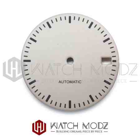28.5mm Ash Gray Dial with Black Markers for nh35