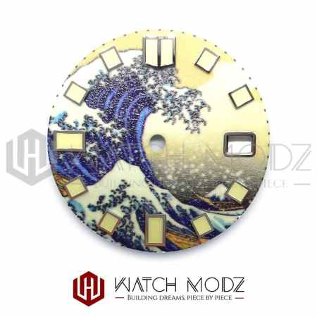 28.5mm Great Wave C3 Full Lume Dial for nh35 movement