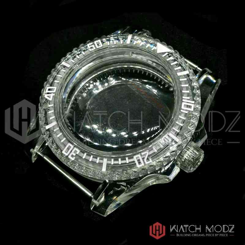 Clear NH35 sub Case for Seiko mods