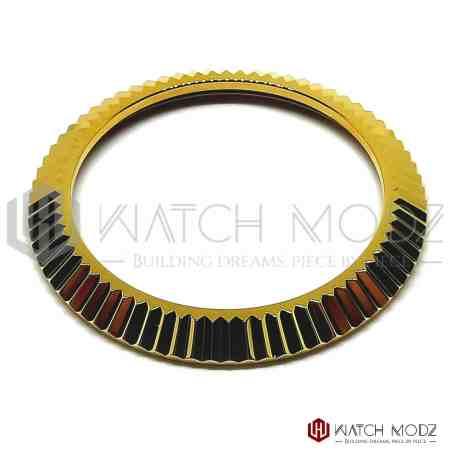 Seiko skx007 gold fluted bezel for seiko mods