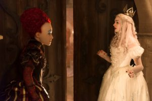 Helena Bonham Carter is the Red Queen and Anne Hathaway is the White Queen in Disney's ALICE THROUGH THE LOOKING GLASS, an all new adventure featuring the unforgettable characers from Lewis Carroll's beloved stories.