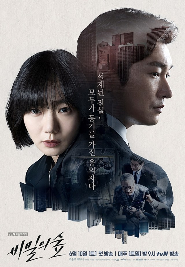 Stranger / Secret Forest promó poszter az eredeti hangul koreai feirattal