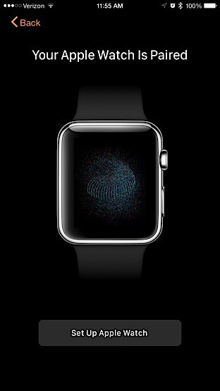 Apple Watch - Emparelhamento