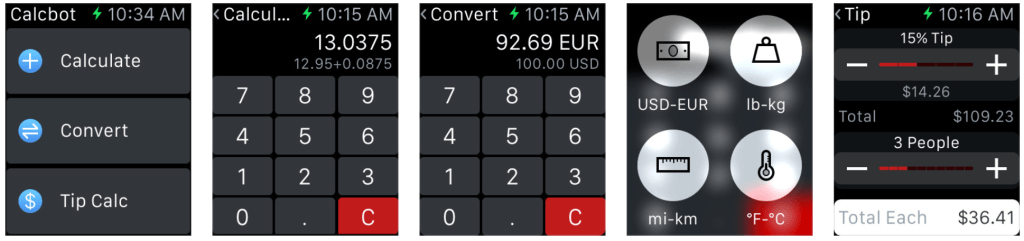 Calcbot uma calculadora para o Apple Watch