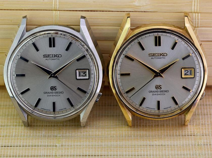 Grand Seiko 6145-9000 steel and cap gold