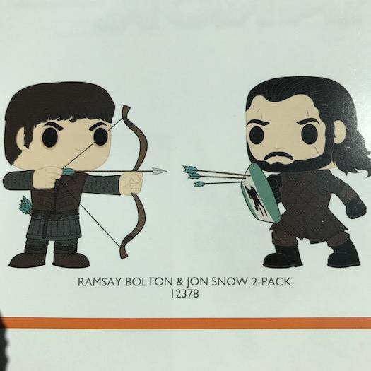 Ramsay Bolton e Jon Snow Twin Pack Funko Pop 2017
