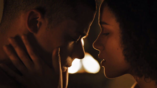 Jacob Anderson as Grey Worm and Nathalie Emmanuel as Missandei. Photo: HBO