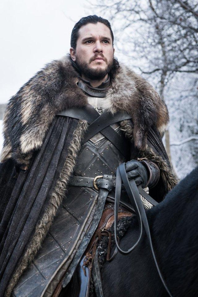 Kit Harington (Jon Snow) arrives at Winterfell. Photo: HBO, via Movistar+