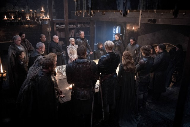 War Meeting Season 8 802 Winterfell Map
