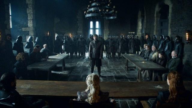 Jaime Lannister Winterfell Trial 802 Season 8 Daenerys Targaryen Jon Snow Sansa Stark Tyrion Lannister Varys Missandei Jorah Brianne Davos