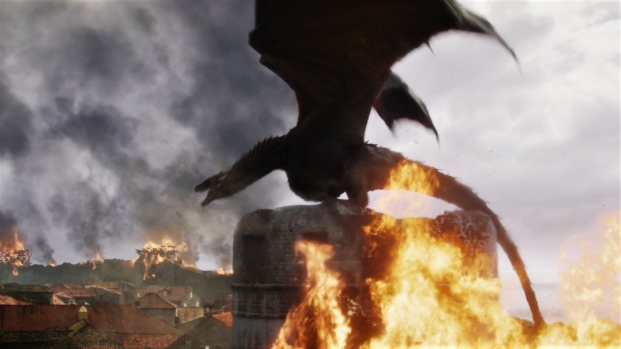 King's Landing Battle 805 Season 8 The Bells Drogon Daenerys Targaryen Decision
