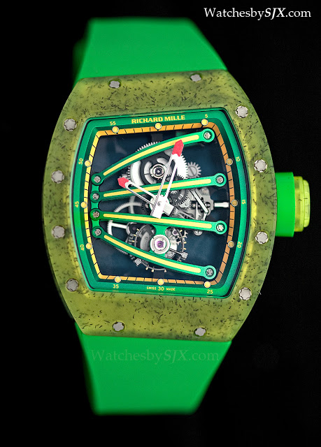 Hands On With The 600 000 Green And Yellow Richard Mille