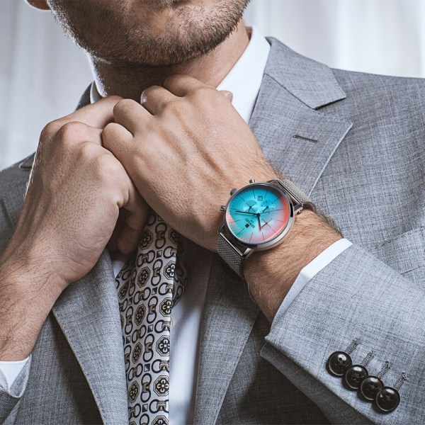Bright Glass Watch Men