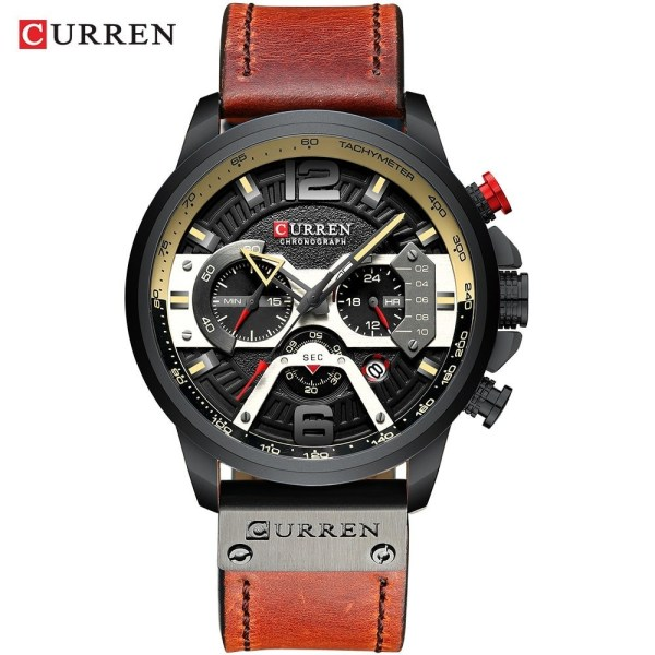 Casual Sport Watches Leather Wrist Watch