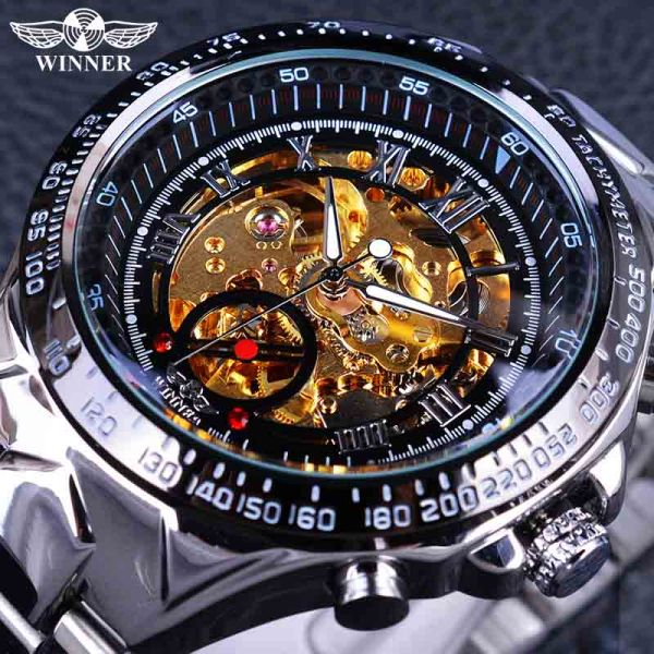 Men Skeleton Watches Wrist Watch