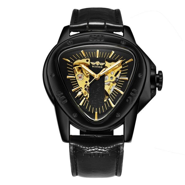 Men Watch Triangle Skeleton Wristwatch