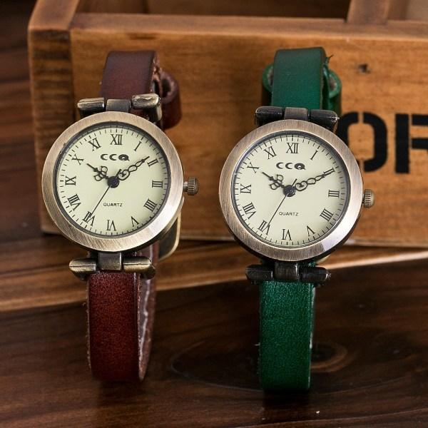 Leather Bracelet Luxury Quartz Watch