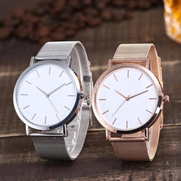 Women's Watches Luxury Silver Clock