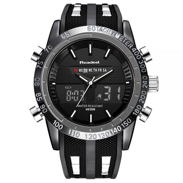 Men Sports Watches Waterproof LED Digital Quartz