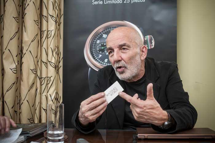 """""""Mi inspiración es el mundo del automovilismo, el cual representa el recuerdo de los mejores momentos de mi juventud. Sin mayores pretensiones, logré convertir una cosa común como el manómetro, en un reloj que ha gustado"""": Giuliano Mazzuoli CEO y Fundador de Giuliano Mazzuoli"""
