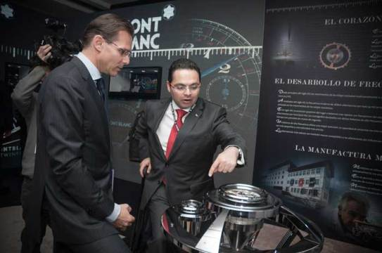 Alexander Schmiedt, Director de Relojería de Montblanc, junto a Guillermo Lira, Director General de Watches World.