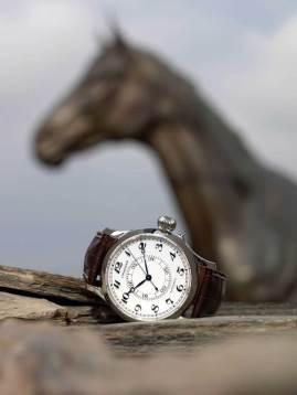 Weems Second – Setting Watch Ref: L2.713.4.13.0 Funciones: horas, minutos y segundos; subcarátula interna giratoria para la sincronización del segundero con una señal horaria de radio Fabricado en acero inoxidable, caja de 47.5 mm, correa de piel de cocodrilo marrón.