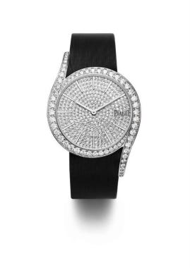 Piaget Limelight Gala – 32 mm, en oro blanco de 18 quilates. Caja engastada en 62 brillantes corte diamante.