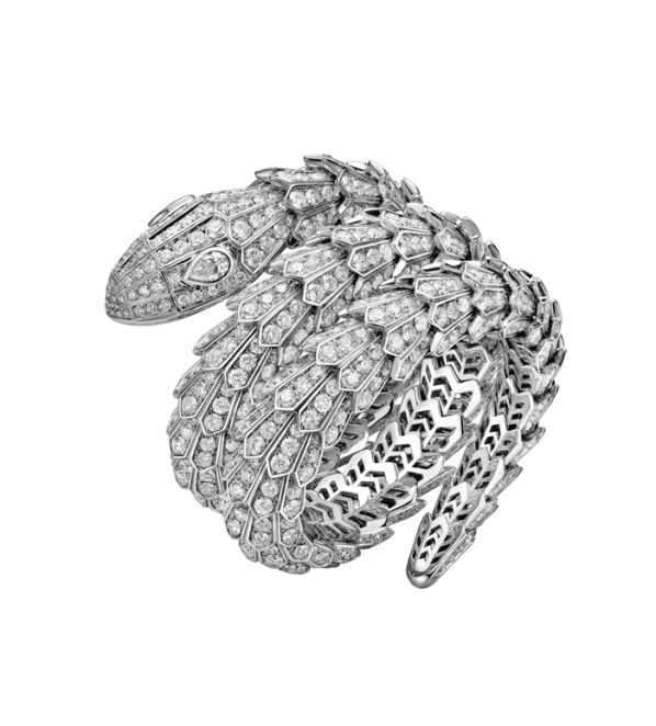 Pulsera Serpenti en oro blanco con diamantes de la Colección High Jewerly.