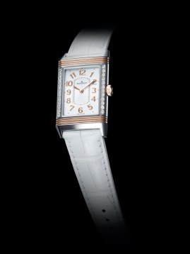 Grande Reverso Lady Ultra Thin / Diamantes en vertical.