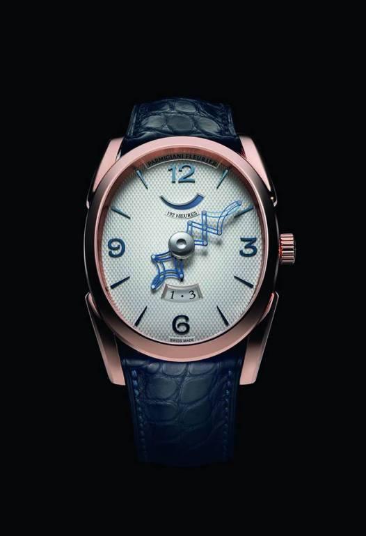 Ovale Pantographe - PFC775-1000100 caja en oro rosa y correa Hermès.