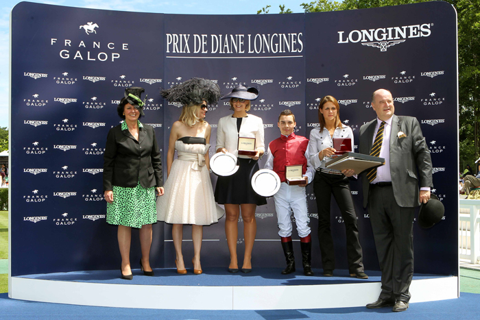 Ceremonia de premiación: Prix de Boasne Longines.