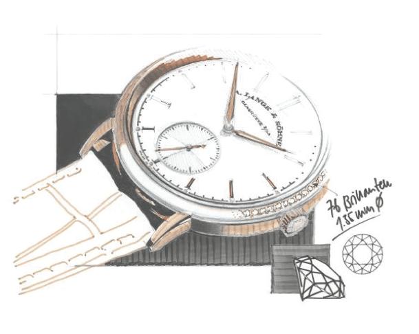 Saxonia Automatic // Combinación de la artesanía y la elegancia atemporal salpicada de diamantes. Su carátula de plata maciza está enmarcada por un bisel engastado, look discreto y elegante que complementa de manera perfecta la silueta delgada de oro blanco o rosa de 3.7 milímetros.