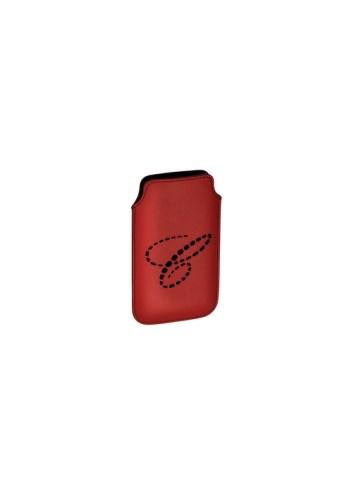 Funda para iPhone 5, en piel con el logo C perforado. Ref. 95015-018