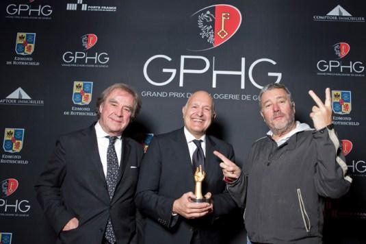 Michele Sofisti, CEO de Girard-Perregaux,Philippe-Starck y J.M. Wilmotte