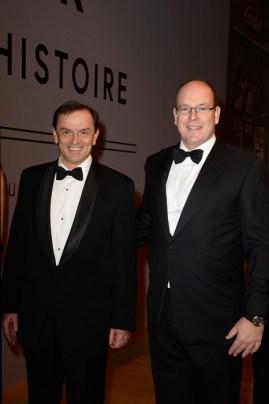 Stanislas de Quercize, President & CEO, Cartier International y el Príncipe de Mónaco. GettyImages para Cartier.