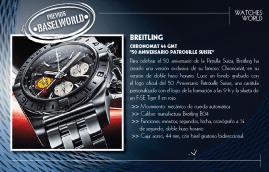 """Breitling Chronomat 44 GMT """"50 Aniversario Patrouille Suisse""""."""