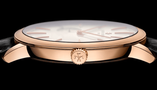 Vacheron Constantin Patrimony Contemporaine Ultra Thin 1731– reloj más plano con repetición de minutos de carga mecánica manual: 8.09 mm y 3.9 mm para el movimiento.
