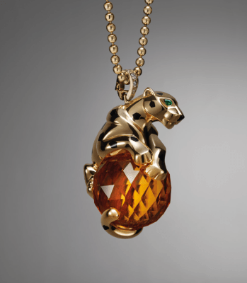 Collar de oro amarillo, onix, laca negra, citrino, granates tsavoritas, diamantes2