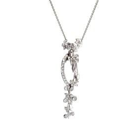 DA13453 020101 - Emperatriz Cascada medium necklace in white gold and diamonds