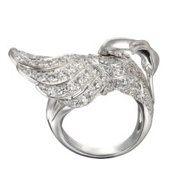 DA13557 020101 - Garzas maxi ring in white gold and diamonds