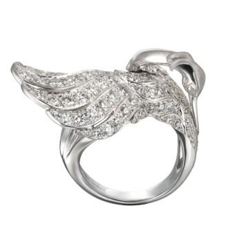 DA13557 020101 - Garzas maxi ring in white gold and diamonds