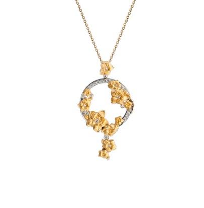 DA13654 030101 - Emperatriz maxi pendant in yellow and white gold with diamonds