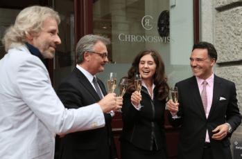 Thomas Gottschalk, Stefan Roth (Alcalde de Lucerne), Eva y Oliver Ebstein