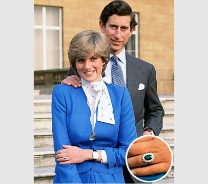 Uno de los anillos de compromiso más famosos de la historia, el de Lady Diana, es un zafiro azul.