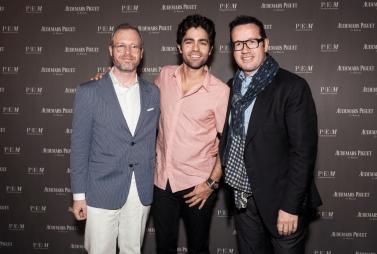 Xavier Nolot, Adrian Grenier y Francois Henry Bennahmias