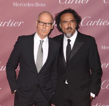 Michael Keaton y Alejandro González Iñárritu