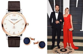 Joshua Jackson (fringe) en los Independent Spirit Awards, portó con gran elegancia el reloj Montblanc Star Classique y las mancuernillas Montblanc en oro rosa (112908).