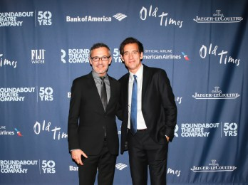 Jaeger-LeCoultre Executive Communications Director Laurent Vinay and Friend of the Brand Clive Owen - Sam Deitch BFA