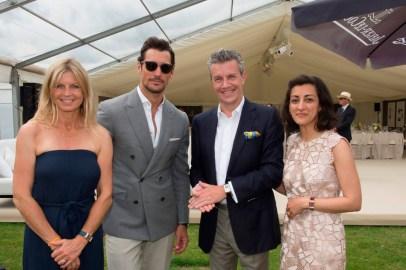 Polo-Ambassador-Clare-Milford-Haven,-David-Gandy,-Jaeger-LeCoultre-CEO-Daniel-Riedo-and--UK-Director-Zahra-Kassim-LakhaVanessa-Taylor-Photography